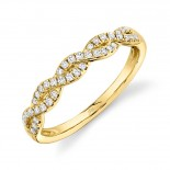 0.22ct 14k Yellow Gold Diamond Lady