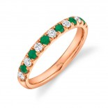0.30ct Diamond and 0.30ct Emerald 14k Rose Gold Lady
