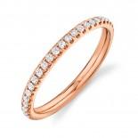 0.40ct 14k Rose Gold Diamond Eternity Lady