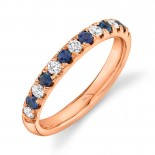 0.30ct Diamond and 0.30ct Blue Sapphire 14k Rose Gold Lady