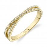 0.09ct 14k Yellow Gold Diamond Lady