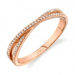 0.09ct 14k Rose Gold Diamond Lady
