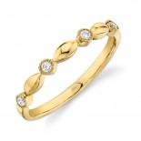 0.08ct 14k Yellow Gold Diamond Lady
