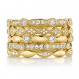 0.50ct 14k Yellow Gold Diamond Lady
