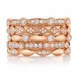 0.50ct 14k Rose Gold Diamond Lady