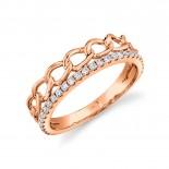 0.28ct 14k Yellow Gold Diamond Link Ring