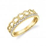 0.28ct 14k Rose Gold Diamond Link Ring