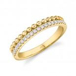 0.18ct 14k Yellow Gold Diamond Lady