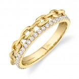 0.25ct 14k Yellow Gold Diamond Link Ring