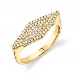 0.25ct 14k Yellow Gold Diamond Pave Lady