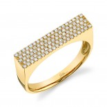 0.30ct 14k Yellow Gold Diamond Pave Lady