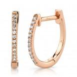 0.08ct 14k Rose Gold Diamond Huggie Earring