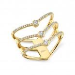 0.30ct 14k Yellow Gold Diamond Lady