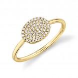 0.17ct 14k Yellow Gold Diamond Pave Ring