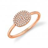 0.17ct 14k Rose Gold Diamond Pave Ring