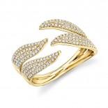 0.50ct 14k Yellow Gold Diamond Pave Lady