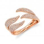 0.50ct 14k Rose Gold Diamond Pave Lady