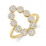 0.72ct 14k Yellow Gold Diamond Lady
