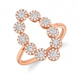 0.72ct 14k Rose Gold Diamond Lady