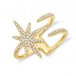 0.26ct 14k Yellow Gold Diamond Lady
