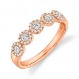 0.40ct 14k Rose Gold Diamond Lady