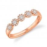 0.25ct 14k Rose Gold Diamond Lady