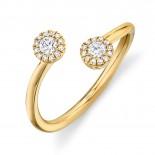 0.23ct 14k Yellow Gold Diamond Lady