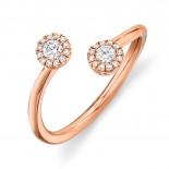 0.23ct 14k Rose Gold Diamond Lady
