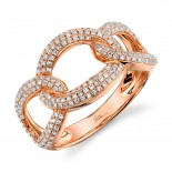 0.55ct 14k Rose Gold Diamond Lady