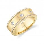 0.35ct 14k Yellow Gold Diamond Lady