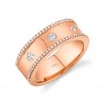 0.35ct 14k Rose Gold Diamond Lady