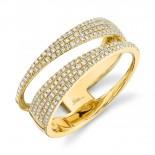 0.45ct 14k Yellow Gold Diamond Pave Lady