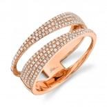 0.45ct 14k Rose Gold Diamond Pave Lady