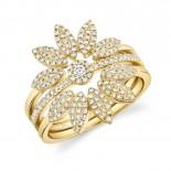 0.49ct 14k Yellow Gold Diamond Lady