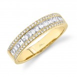 0.55ct 14k Yellow Gold Diamond Baguette Lady