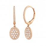 0.49ct 14k Rose Gold Diamond Earring