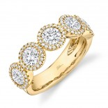 2.00ct Round Brilliant Center and 0.28ct Side 14k Yellow Gold Diamond Lady