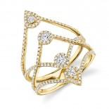 0.71ct 14k Yellow Gold Diamond Lady