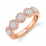 1.00ct Round Brilliant Center and 0.25ct Side 14k Rose Gold Diamond Lady