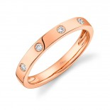 0.07ct 14k Rose Gold Diamond Lady
