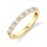 0.35ct 14k Yellow Gold Diamond Baguette Lady