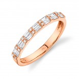 0.35ct 14k Rose Gold Diamond Baguette Lady