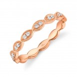0.13ct 14k Rose Gold Diamond Lady