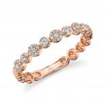 0.22ct 14k Rose Gold Diamond Lady