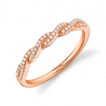 0.12ct 14k Rose Gold Diamond Lady
