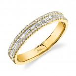 0.44ct 14k Yellow Gold Diamond Baguette