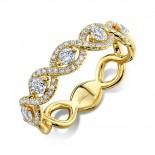 0.57ct 14k Yellow Gold Diamond Lady
