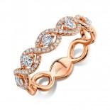 0.57ct 14k Rose Gold Diamond Lady
