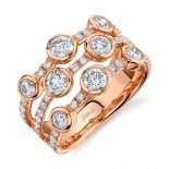 1.58ct 14k Rose Gold Diamond Lady