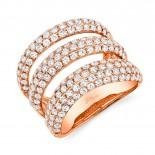 2.55ct 14k Rose Gold Diamond Pave Lady